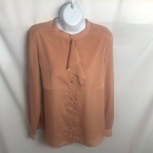 Anne Klein rose colored long sleeve blouse